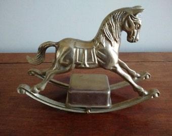 Brass Rocking Horse, Brass Music Box, Rocking Horse Music Box Solid Brass