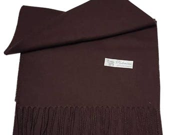 Men Super Soft Cashmere Luxury Feel Scarf/Shawl For Day To Evening Occasions (Brown)