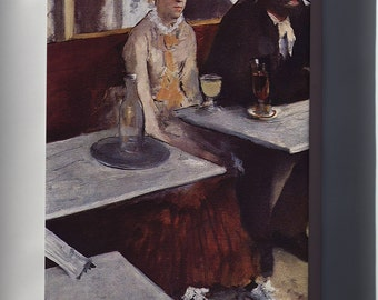 Canvas 24x36; L'Absinthe, 1876, Oil On Canvas, By Edgar Degas