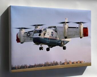 Canvas 24x36; Ling Temco Vought Xc-142A Tilt Wing Nasa Langley 1969