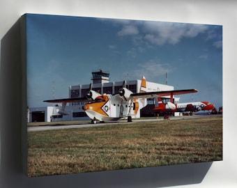 Canvas 24x36; Coast Guard Uf-2G (Hu-16E) Albatross R4D (C-54) Skymaster