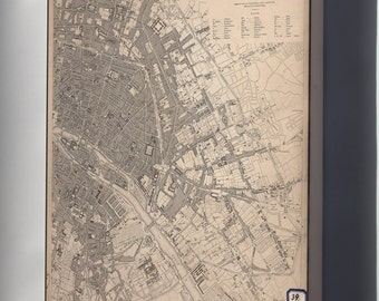 Canvas 24x36; Map Of Eastern Paris 1833