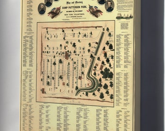 Canvas 24x36; Map Of Camp Patterson Park Baltimore Maryland