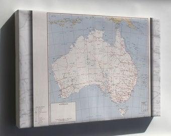 Canvas 24x36; Cia Map Of Australia 1959