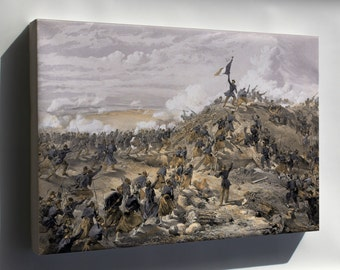 Canvas 16x24; Attack On The Malakoff By Wwilliam Simpson Battle Of Malakoff Crimean War