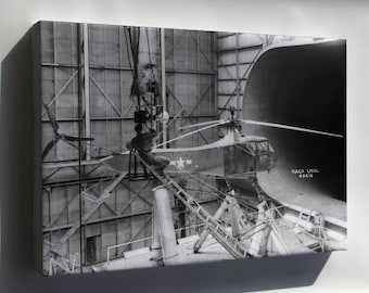 Canvas 16x24; Sikorsky Yr-4Bhns-1 Helicopter In Wind Tunnel Langley 1944