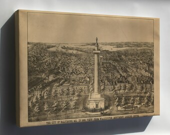 Canvas 16x24; Map Of City Of Baltimore Maryland 1880