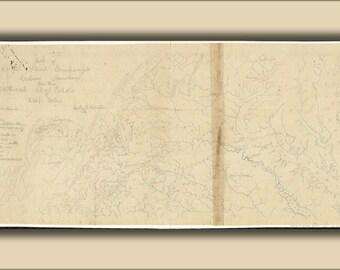 16x24 Poster; Map Of Royal Land Companys Railroad Virginia 1870