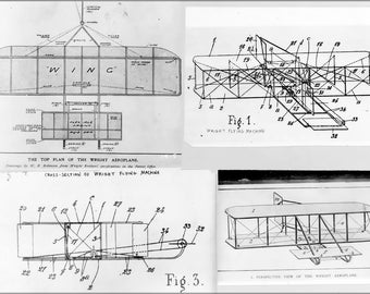 16x24 Poster; Wright Brothers Plane Patent Plans 1908