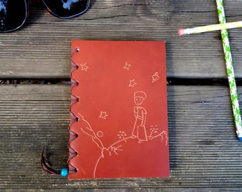 Agenda Prince leather, leather notebook, Prince notebook, notebook, notebook vintage leather, leather, leather, little Prince, agenda