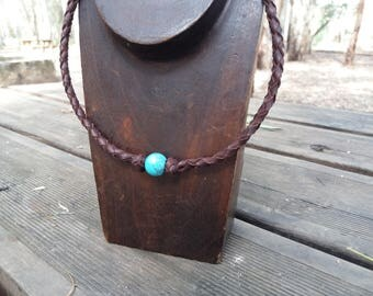 Leather necklace, girl necklace, necklace boy, necklace blue, blue,leather necklace woman, leather necklace men, leather pendant,colours