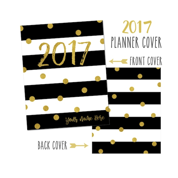 Personalized Planner Cover ~ 2017 ~ Choose Cover only or Cover Set - Many Planner Sizes Available!