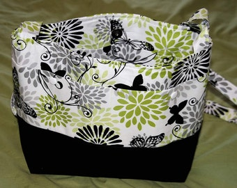 Green and Black Butterfly Purse