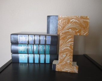 Letter T Monogram READY TO SHIP - Reader's Digest Book Letter -  Wedding Gift - Book Lover's Gift - Library Letter - Vintage Book Letter