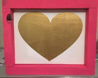 Heart With Frame   Valentines Day Decor   Valentines Gift   Home Decor   Wood Sign   Love Sign   Gift For Her   Wooden Sign   Valentines Day