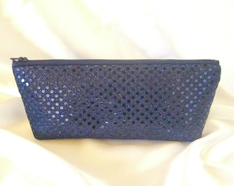 Navy Sequin Clutch - Navy Sequin Bag - Bridesmaid Sequin Clutch - Holiday Clutch - Special Occasion - Winter Formal Clutch - Navy Blue Purse