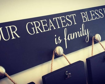 Our Greatest Blessing Picture Hanger - Chalkboard