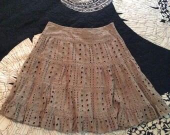 Boho Cocoa Brown Short Skirt
