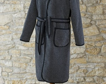 pure wool dressing gown