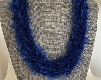Hawaii Eyelash Yarn Hand Knit Graduation Lei