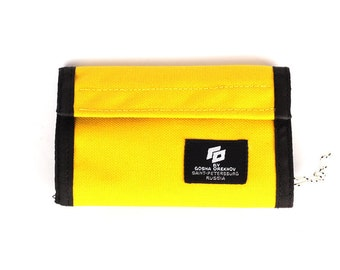 Yellow Cordura Wallet with velcro closure