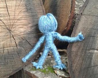 Blue Baby-Handmade Voodoo Doll/ Yarn Poppet