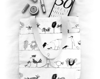 Where the Wild Things Are • Handcrafted Tote Bag • Natural Cotton + Linen • Daily Essentials • ATELIER Totes