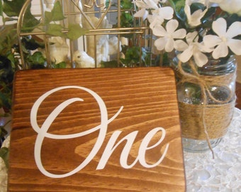 Sets of table numbers,wood wedding table numbers, rustic table number,