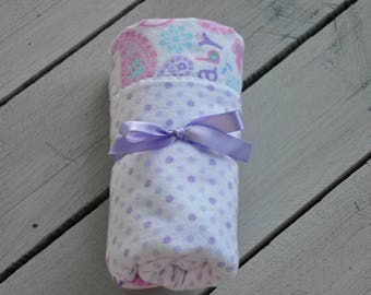 Baby Blanket Flannel 2 sided Paisley Print