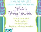 Monsters Inc Baby Shower Invitation - Monsters Inc Baby Shower - Monsters Inc Invitation - Monsters Inc - Monsters Invitation - Digital File