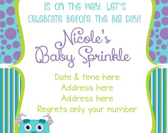 Monsters Inc Inspired Birthday Invitation