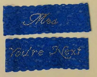 "Mrs. and ""You're Next"" Rhinestone Bridal Garter Set  - Wedding Garder"