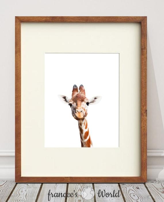 Giraffe PRINT Safari nursery art, PRINTABLE art, Safari animals wall ...