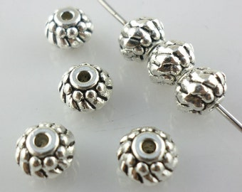 56/500pcs Tibetan silver Oblate Spacer Beads 5x7mm