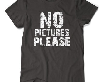 No Pictures Please, T-shirt