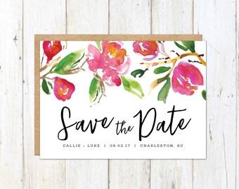 Magnolia Save the Date, Carolina Save the Date, Charleston Save the Date, Magnolia Flowers Save the Date