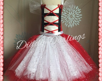 Sparkly  Little Red Riding Hood Costume. Red Riding Hood Tutu Dress.Inspired Handmade Dress.All Sizes Fully Customised Changes Welcome!