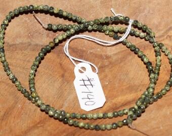 "16"" Strand of 2mm Smooth Round Ryolite Beads #140"