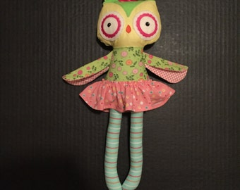 Floral Owl Doll