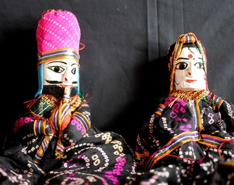 Rajasthani Puppet/Doll (pair - black)