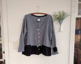 Hand Crafted Boho Linen Jacket / - by Breathe-Again Clothing