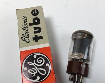 NOS (New Old Stock) GE 5881 (6L6) Vacuum Tube