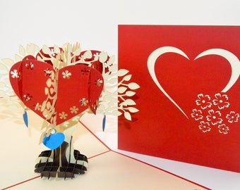 3D Cards - Valentine Card - Love Card - Pop Up Card - 3D Valentine Card - I Love You Card - Heart Card - 3D Heart Card - Paper Good