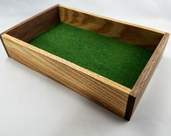 Ash/Walnut Dice Tray for Dice Games, Board Gaming, Tabletop Gaming, DND, Pathfinder, RPG, D20