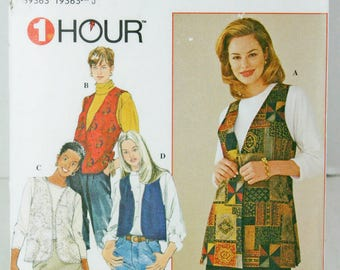 Simplicity 7320 Sewing Pattern Misses Lined Vests Ugly Christmas Large XLarge Uncut Sz 18 - 24 Plus Size