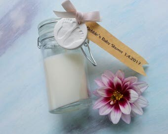Baby Shower Soy Candle Favour Baby Feet Clay Ornament. Baby Shower. New Baby. Soy Candle. Baby Gift. New Baby Present. Clay Ornament.