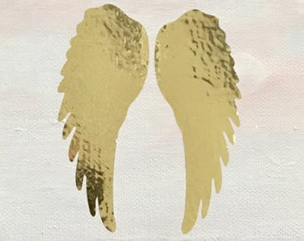 Angel wings on painted canvas