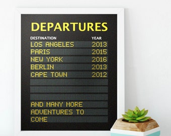 Personalised Departure Board Destination Print