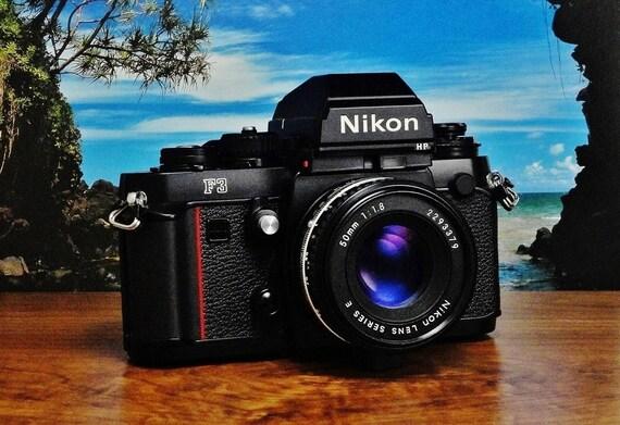 Vintage NIKON F3HP (High Eyepoint) 35mm SLR Manual Focus Film Camera, Nikon 50mm f/1.8 Series E Prime Lens, Circa: 1980~2001, Marvelous!
