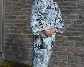 Kimono inspired by Japanese kimonos - reasons manga - man hand made